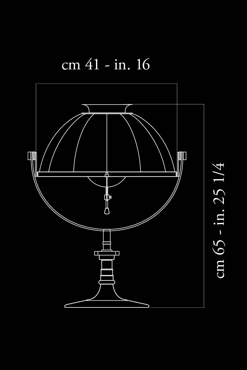 Fortuny Armilla 41 Tischleuchte Maße