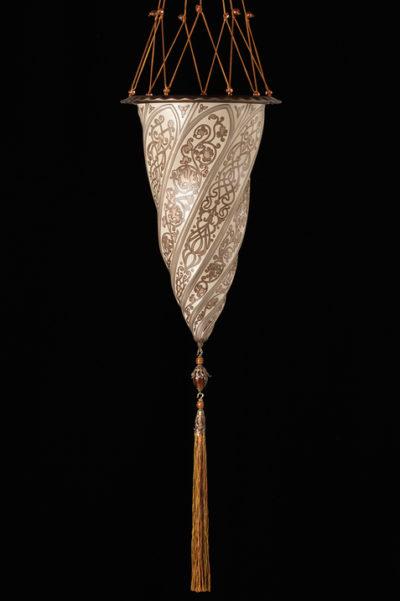 Cesendello Chandelier Glas Pendelleuchte in Silber