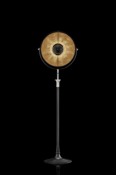 Fortuny Atelier 41 Stehleuchte aus Schwarz und Blattgold