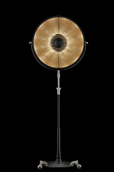 Fortuny Atelier 63 Stehleuchte aus Schwarz und Blattgold