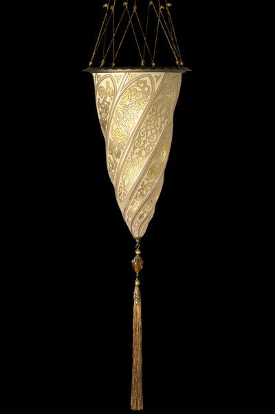 Fortuny Cesendello Pendelleuchte aus Goldglas