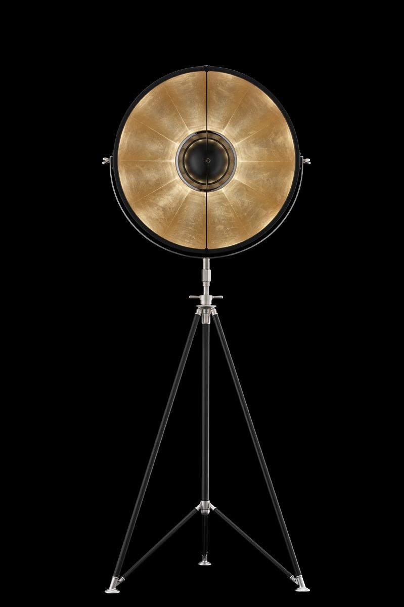 Fortuny Studio 63 floor tripod lamp black & gold