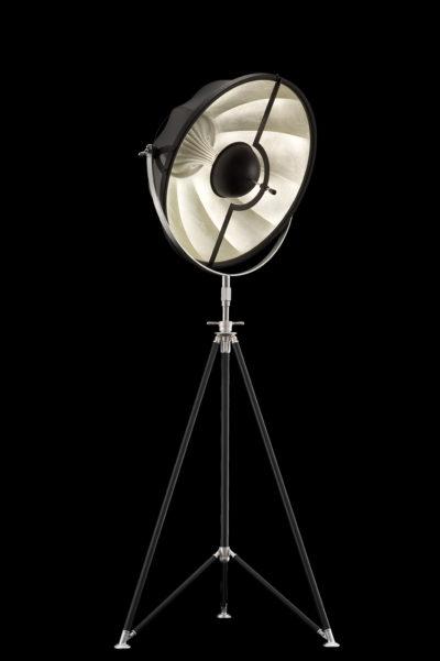 Fortuny Studio 63 Stehleuchte aus Schwarz und Blattsilber