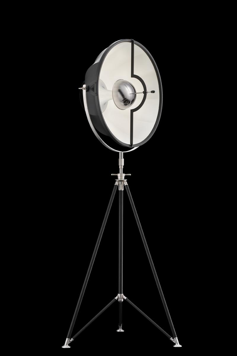 Fortuny Studio 63 Stehleuchte aus Schwarz und Weiß