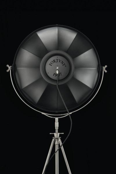 Fortuny Studio 76 Stehleuchten mit Stativstange Schwarz und Blattsilber