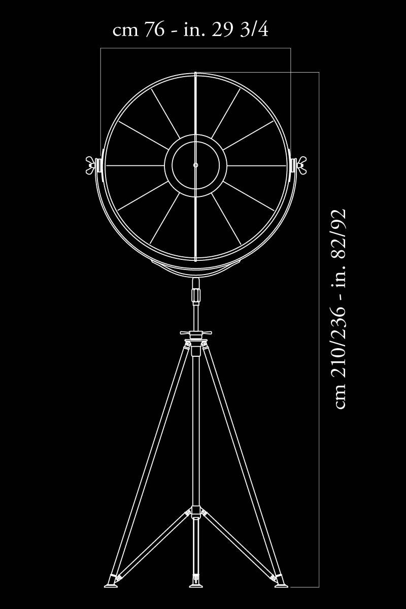 Fortuny Studio 76 lamp dimensions