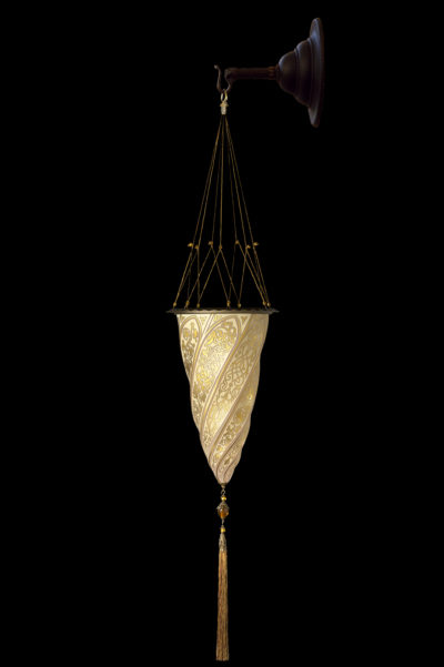 Fortuny Cesendello goldene Wandglasleuchte