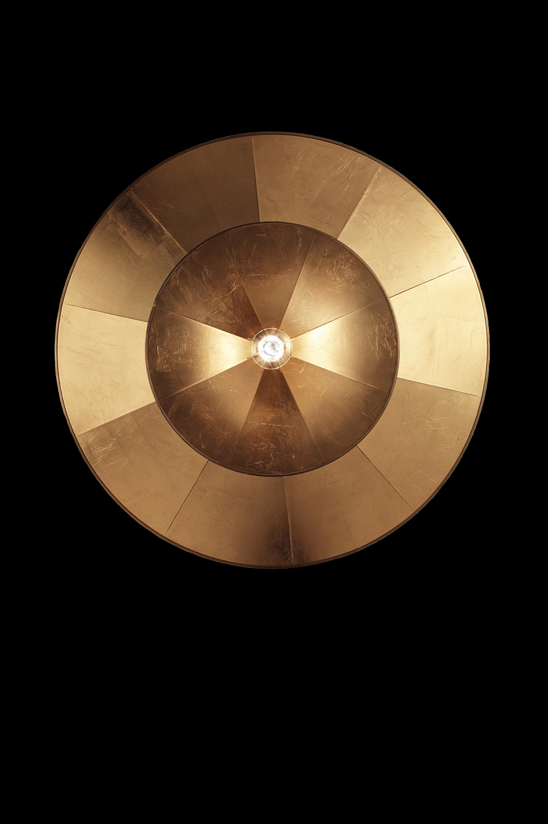 Fortuny Icaro Glasfaser-Blattgoldleuchte in 2 Ebenen