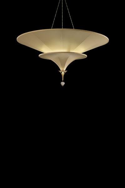 Fortuny Icaro Glasfaser-Elfenbeinleuchte in 2 Ebenen