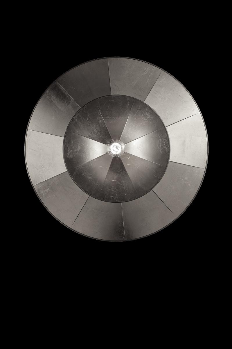 Fortuny Icaro Glasfaser-Blattsilberleuchte in 2 Ebenen