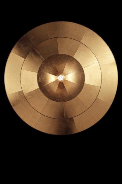 Fortuny Icaro Glasfaser-Blattgoldleuchte in 3 Ebenen Untersicht