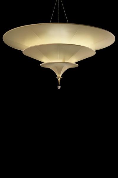 Fortuny Icaro Glasfaser-Elfenbeinleuchte in 3 Ebenen