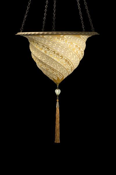 Fortuny Samarkanda goldene Glasleuchte