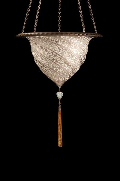 Fortuny Samarkanda Silberne Glasleuchte