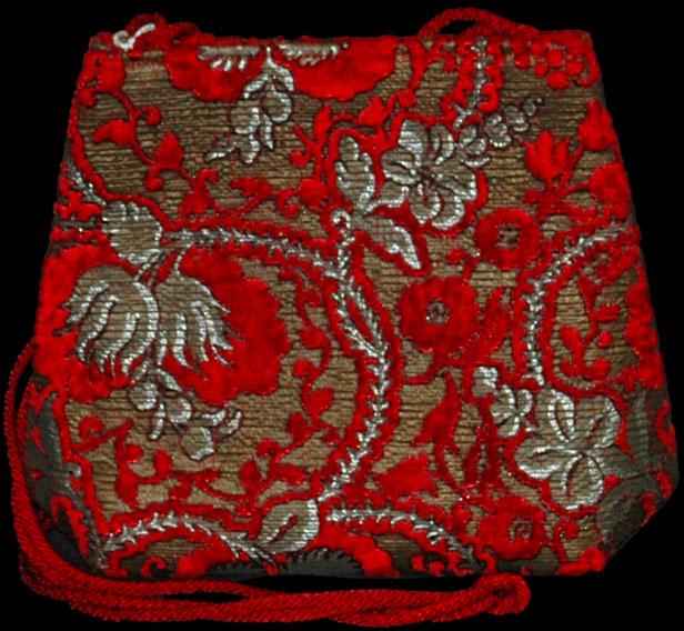 Fortuny Giudecca Rote bedruckte Samttasche