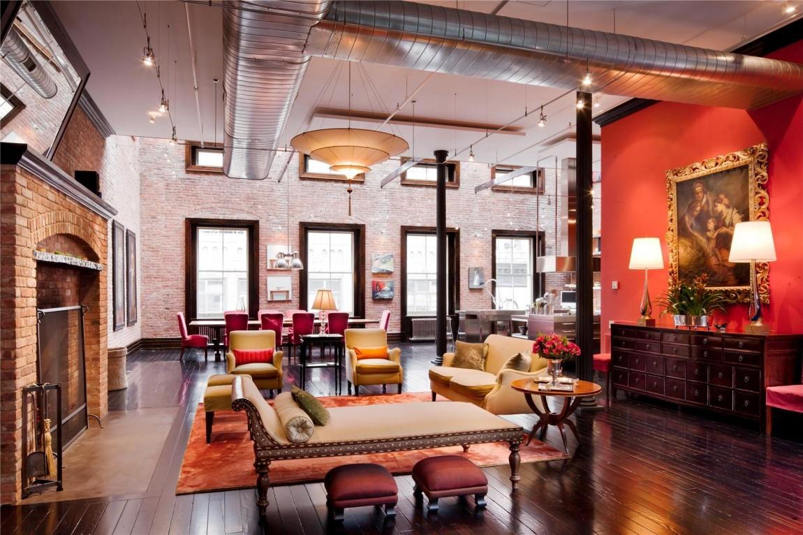 Loft Mansion in New York mit Fortuny leuchte