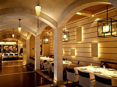 Byblos Restaurant in Saudi-Arabien mit der Seidenleuchte Cesendello