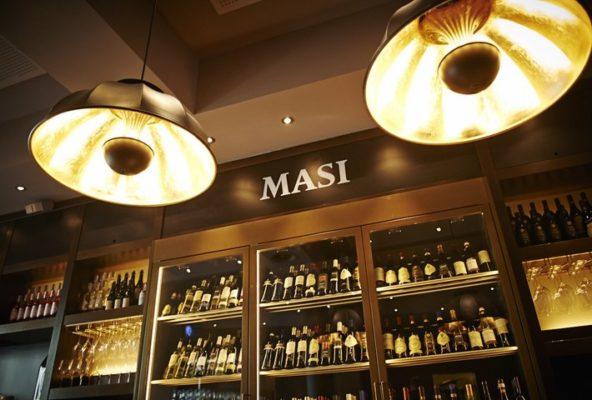 Fortuny leuchte Masi Wine Bar in Zürich