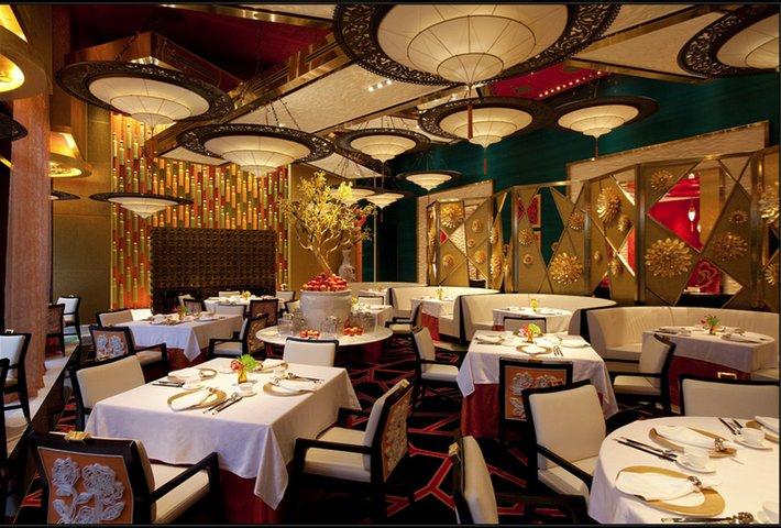 GOLDEN FLOWER Restaurant in China mit Fortuny Leuchte 3