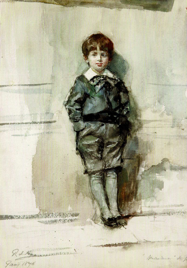 Mariano Fortuny, sechs Jahre alt
