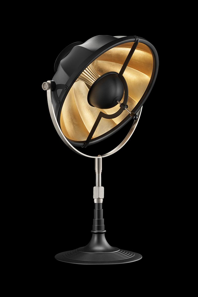 Fortuny Armilla 32 Tischleuchte aus schwarz und blattgold