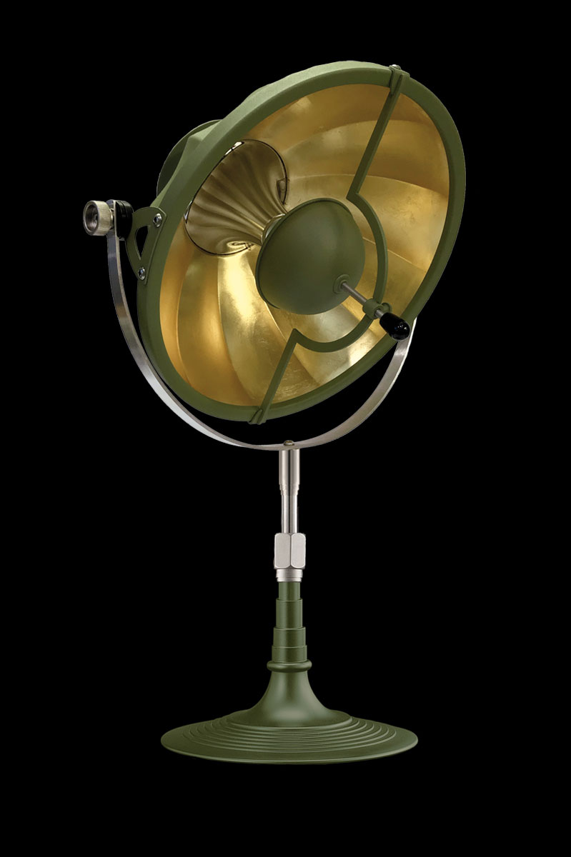 Fortuny Armilla 32 table lamp pastel green & gold Leaf