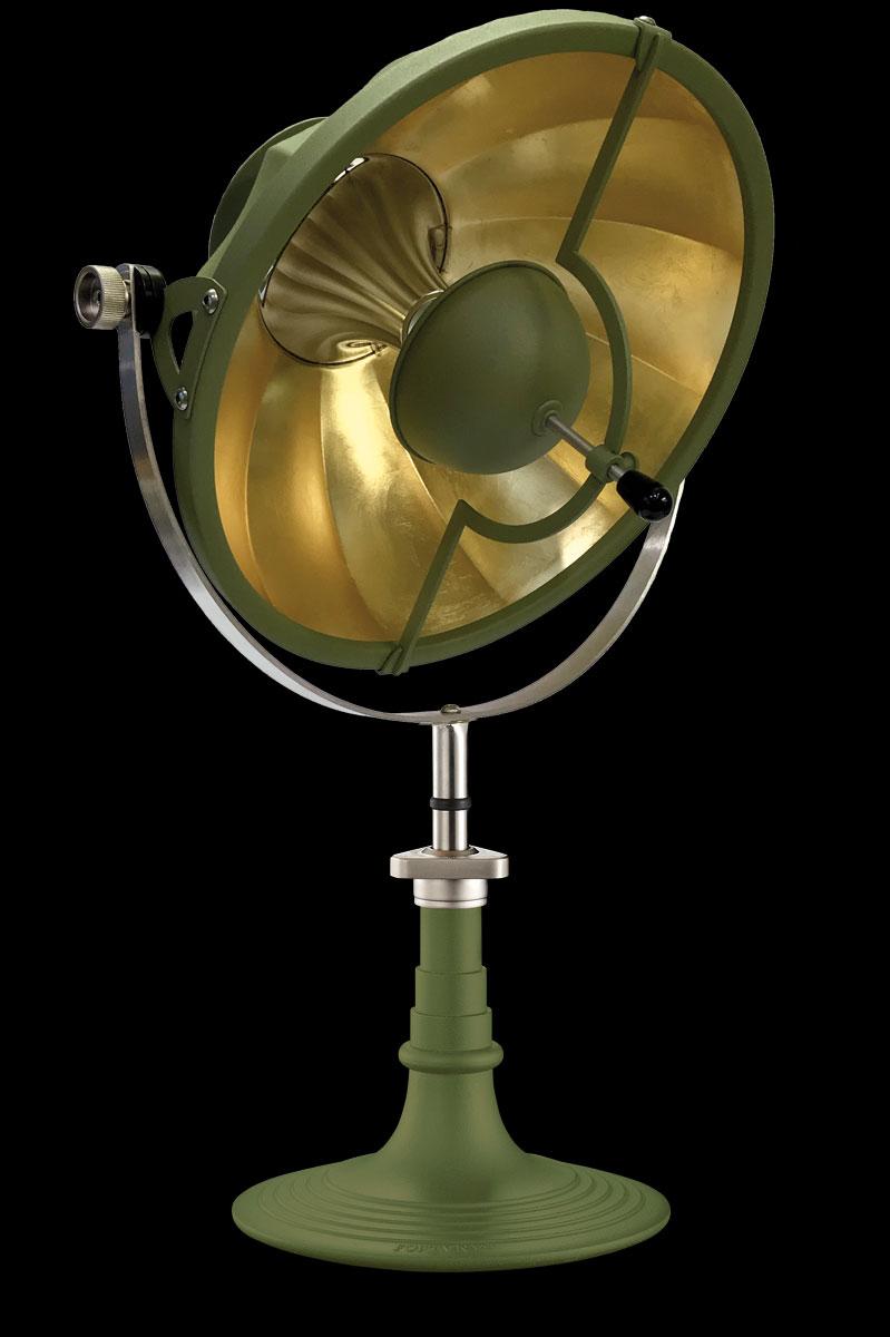 Fortuny Armilla 41 Tischleuchte aus Pastellgrün und Blattgold