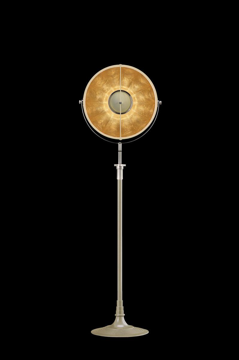 Fortuny Atelier 41 Stehleuchte aus Quarz und Blattgold