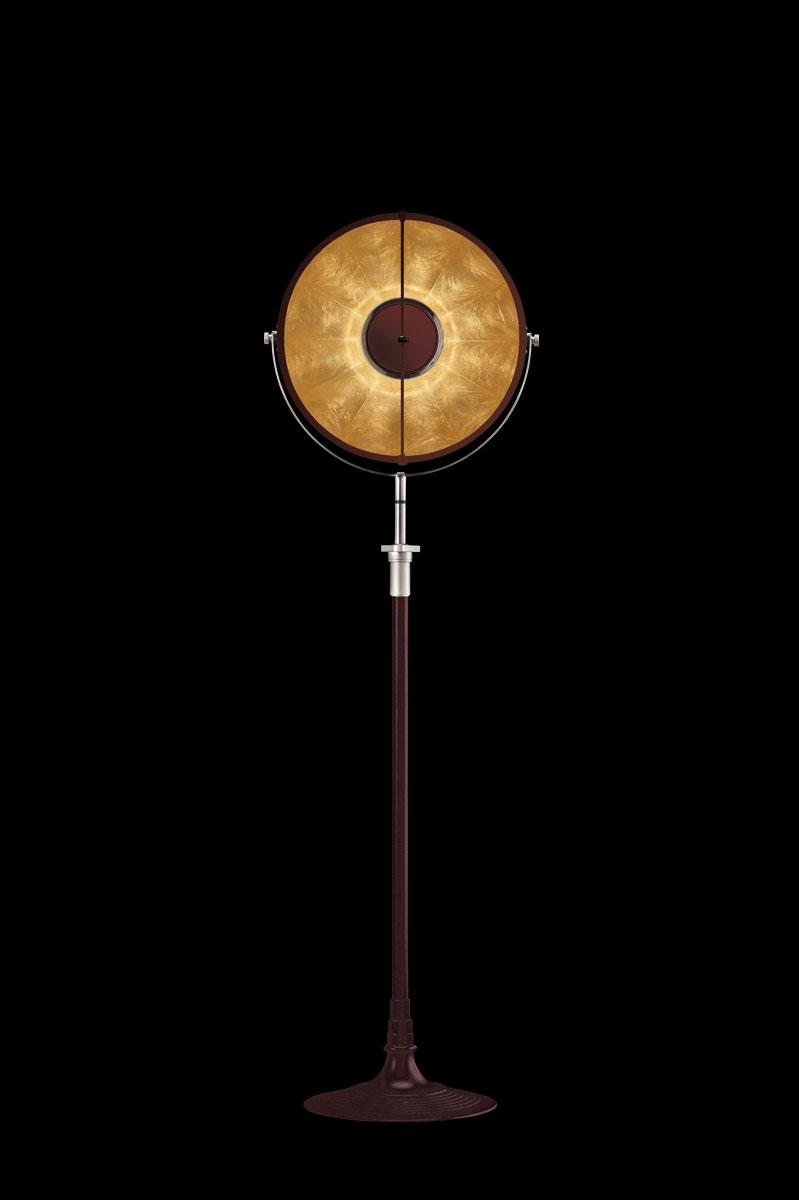 Fortuny Atelier 41 Stehleuchte aus Antik Rot und Blattgold