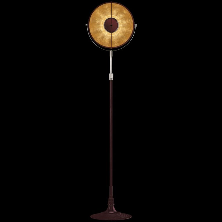 Fortuny lamp Studio 1907 Atelier 32 antique red & gold leaf
