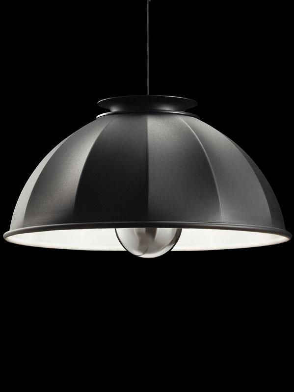 Fortuny Cupola 76 weiße und schwarze Hängeleuchte