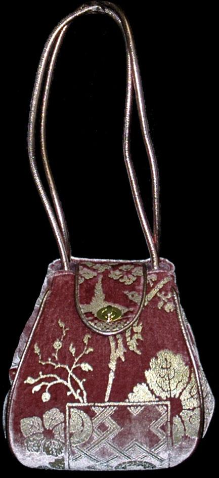 Fortuny Moretta 917 bedruckte Samttasche