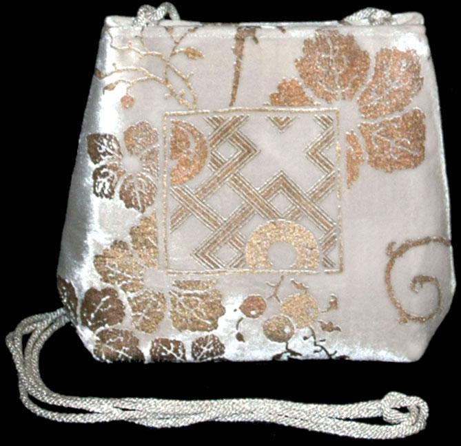 Fortuny Gioia 556 weiße handbedruckte Samttasche