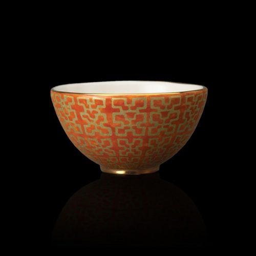 Fortuny Ashanti orange Müslischalen (set aus 4)