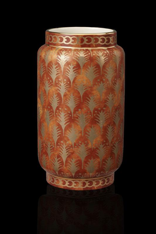 Fortuny Piumette orange mittelgroße Vase