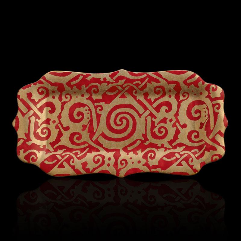 Fortuny Maori rote Königskuchenplatte
