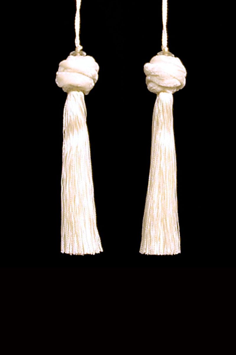 Venetia Studium Turbante couple of white key tassels