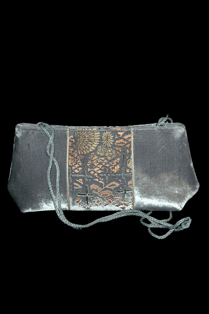 Fortuny Baguette handbedruckte Samttasche
