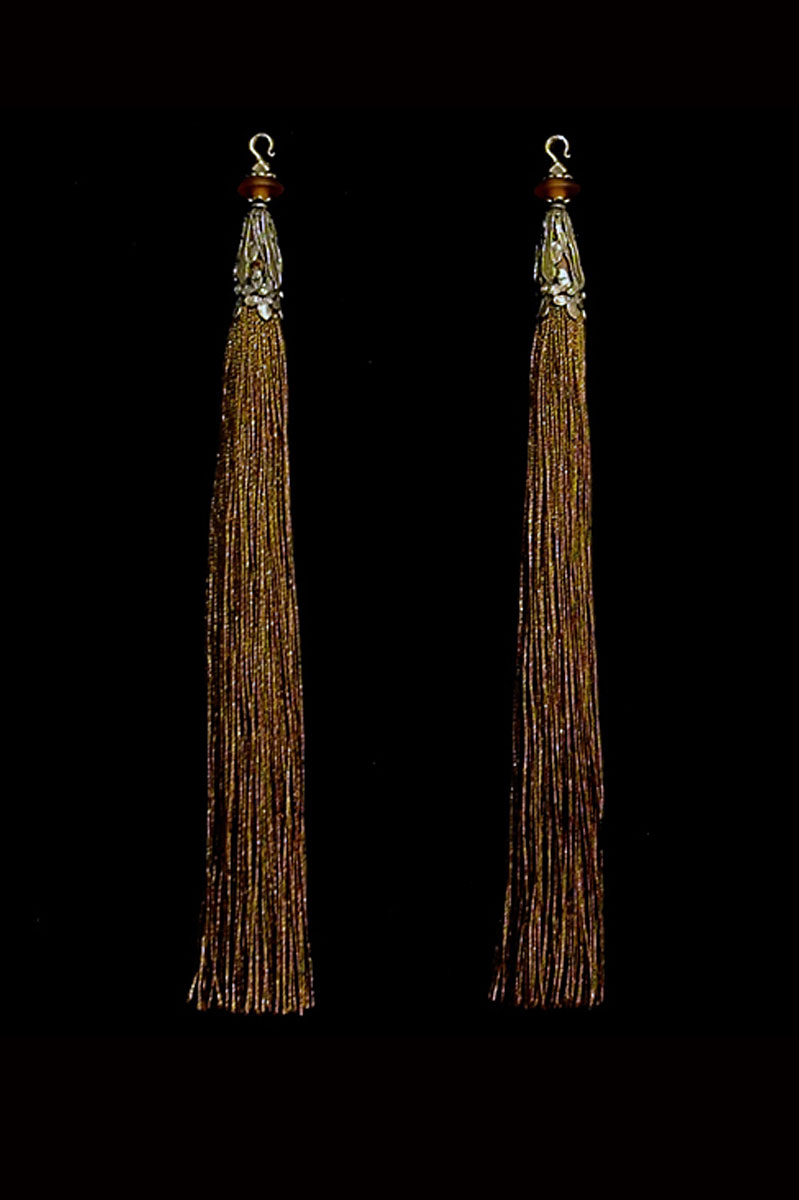 Venetia Studium couple of chocolate brown hook tassels