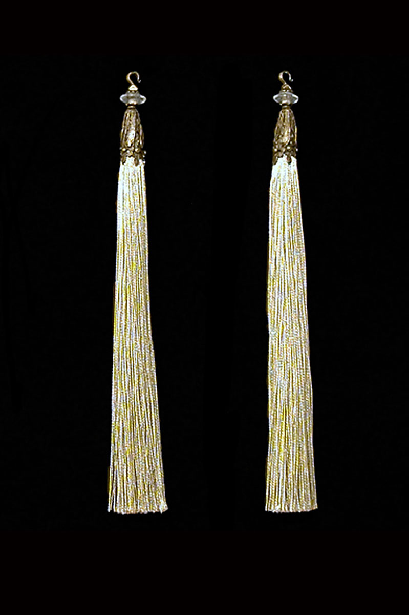 Venetia Studium couple of beige hook tassels