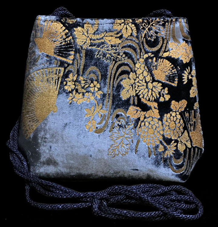 Fortuny Gioia terrakotta handbedruckte Samttasche